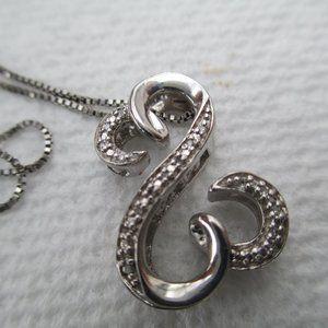 Zales Open Heart Necklace Diamond